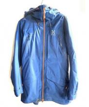 HAGLOFS(ホグロフス)の古着「SKADE PARKAジャケット」 ブルー×オレンジ