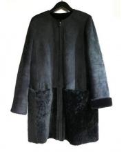 23区(23区)の古着「ショートヘアムートンコート」|ブラック
