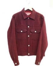 JUNYA WATANABE CdG MAN PINK(ジュンヤワタナベマンピンク)の古着「加工ウールジャケット」 レッド