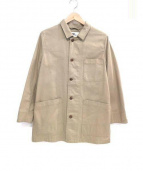 MHL.(エムエイチエル)の古着「綿麻ステンカラーコート」|アイボリー