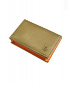 BALENCIAGA(バレンシアガ)の古着「カードケース」 カーキ×オレンジ
