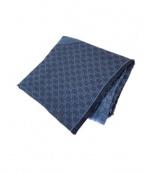 GUCCI(グッチ)の古着「シルク混大判スカーフ」|ネイビー