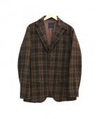 DISPANT(ディスパント)の古着「チェック3Bテーラードジャケット」|ブラウン
