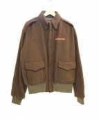 AVIREX(アヴィレックス)の古着「A-2ウールフライトジャケット」|ブラウン