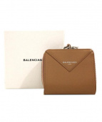 BALENCIAGA(バレンシアガ)の古着「2つ折り財布」 ベージュ