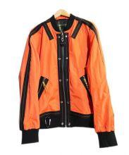 DIESEL(ディーゼル)の古着「デザインMA-1ジャケット」 オレンジ