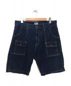 PHERROWS(フェローズ)の古着「ハーフブッシュデニムパンツ」|ブルー
