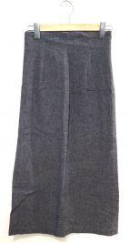 GALERIE VIE(ギャルリーヴィー)の古着「コットンリネンストレッチIラインスカート」