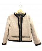 DRAWER(ドゥロワー)の古着「ノーカラーストレッチジャケット」
