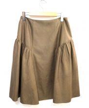FOXEY NEWYORK(フォクシーニューヨーク)の古着「ペプラムスカート」|ベージュ