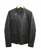 STUDIOUS(ステュディオス)の古着「ラムレザーセミライダースジャケット」|ブラック