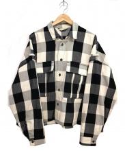 Jieda×monkey time(ジエダ モンキータイム)の古着「ネルチェックシャツ」|ホワイト×ブラック
