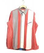 CASTELBAJAC(カステルバジャック)の古着「長袖マルチストライプシャツ」