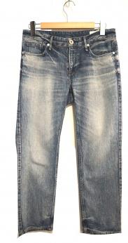 upper hights(アッパーハイツ)の古着「ボーイズクロップドダメージデニムパンツ」