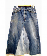 LEVIS(リーバイス)の古着「リメイクデニムロングスカート」