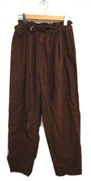 6(ROKU) BEAUTY&YOUTH(ロク ビューティ&ユース)の古着「ベルト付ワイドパンツ」