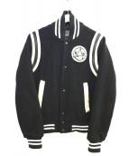 G-STAR RAW(ジースターロゥ)の古着「ウールスタジャン」|ブラック×ホワイト