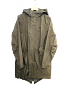 FRED PERRY(フレッドペリー)の古着「フィッシュテールフーデッドコート」|カーキ