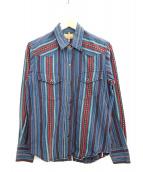 INDIAN MOTORCYCLE(インディアンモーターサイクル)の古着「長袖シャツ」|ブルー