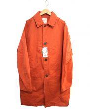 B:MING LIFE STORE by BEAMS(ビーミングライフストア)の古着「ストレッチツイルステンカラーコート」|オレンジ