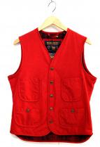 Woolrich(ウールリッチ)の古着「フィッシングベスト」|レッド