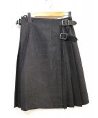 ONEIL OF DUBLIN(オニール オブ ダブリン)の古着「ラッププリーツウールスカート」