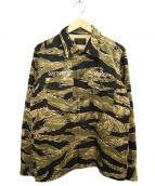 WACKO MARIA(ワコマリア)の古着「タイガーカモシャツ」 カーキ×ベージュ