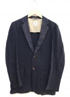 Scye(サイ)の古着「リネンコットンラッセルパイピングジャケット」