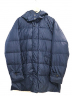 BEAMS HEART(ビームス ハート)の古着「フード付ダウンステンカラーコート」|ネイビー