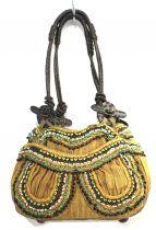 JAMIN PUECH(ジャマン ピュエッシュ)の古着「ビーズデザインハンドバッグ」