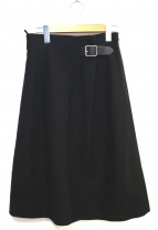 ONEIL OF DUBLIN(オニール オブ ダブリン)の古着「ウールデザインラップスカート」|ブラック