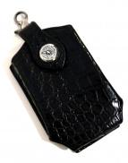 FUNNY(ファニー)の古着「クロコ型押しスマートフォンケース」|ブラック