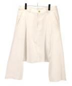 BLACK COMME des GARCONS(ブラックコムデギャルソン)の古着「デザインサルエルパンツ」|ホワイト