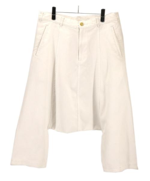 BLACK COMME des GARCONS(ブラックコムデギャルソン)BLACK COMME des GARCONS (ブラックコムデギャルソン) デザインサルエルパンツ ホワイト サイズ:XSの古着・服飾アイテム