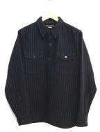 PHIGVEL(フィグベル)の古着「CPOジャケット」|ネイビー×ホワイト