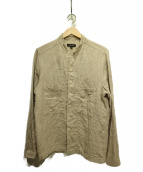 evan kinori(エヴァンキノリ)の古着「フレンチフィールドシャツ」 ベージュ