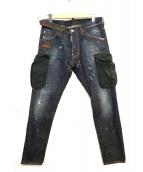 DSQUARED2(ディースクエアード)の古着「カーゴデザインデニムパンツ」