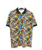 A BATHING APE(アベイシングエイプ)の古着「総柄ポロシャツ」 マルチカラー