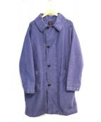 GALLEGO DESPORTES(ギャレゴデスポート)の古着「マンスタイルトレンチコート」|ネイビー