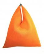 MM6(エムエムシックス)の古着「トライアングルメッシュトート」|オレンジ