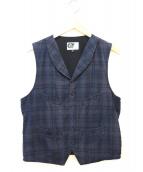 Engineered Garments(エンジニアードガーメンツ)の古着「チェックベスト」 ネイビー