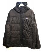 Patagonia(パタゴニア)の古着「フーデッド中綿ジャケット」 ブラック