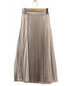 UNITED ARROWS TOKYO(ユナイテッドアローズ)の古着「サテンアコーディオンプリーツスカート」