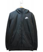 NIKE(ナイキ)の古着「フーデッド中綿ジャケット」|ブラック