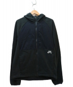 NIKE(ナイキ)の古着「フーデッドフリースジャケット」|ブラック