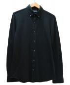 DES PRES(デプレ)の古着「コットンボイルオーバーシャツ」|ブラック