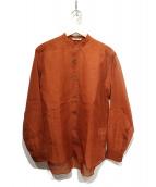 AURALEE(オーラリー)の古着「シルクバンドカラーシャツ」