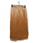 ESTNATION(エストネーション)の古着「ヴィンテージサテンスカート」|シャンパンゴールド