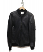 STUDIOUS(ステュディオス)の古着「ラムレザーMA-1ジャケット」|ブラック