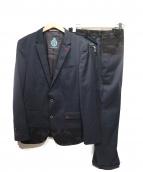 GUILD PRIME(ギルドプライム)の古着「カモ切替セットアップスーツ」|ブラック